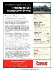 Highland Mill Montessori School - Charlotte-Mecklenburg Schools