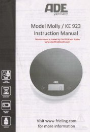 Model Molly / KE 923 Instruction Manual - Scale Manuals