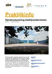 Praktijkinfo: Herstructurering bedrijventerreinen - VNO-NCW