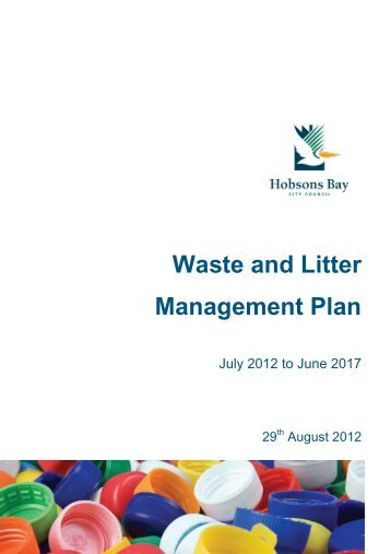 Waste and Litter Management Plan - Hobsons Bay