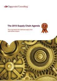 The 2013 Supply Chain Agenda - Capgemini