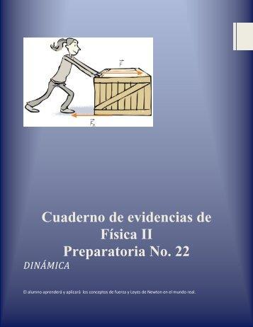 Cuaderno de evidencias de Física II Preparatoria No. 22