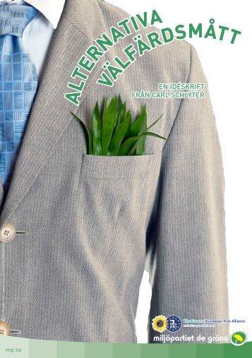 Alternativa välfärdsmått - Miljöpartiet de gröna