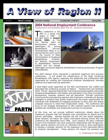 2004 National Employment Conference - UB Graduate School of ...
