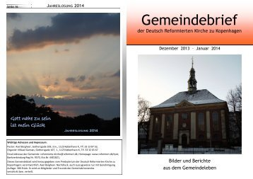Download (pdf) - Reformerte Kirker i Danmark