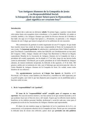 """""""Los Antiguos Alumnos de la Compañía de Jesús y su ... - CPAL"""