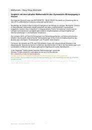 Neue Wege Stochastik Vergleich mit dem Lehrplan Mathematik für ...