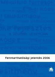 Fenntarthatósági Jelentés 2006 (pdf, 2.9 MB) - TVK