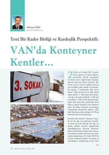 Van'da Konteyner Kentler… Mehmet ÖZEL