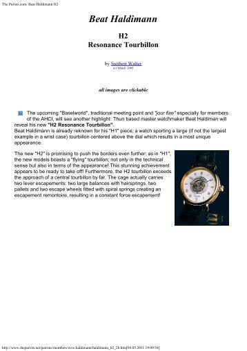H2 Resonance Tourbillon - Haldimann Horology