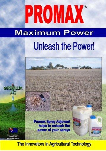 Promax Brochure - Grevillia Ag
