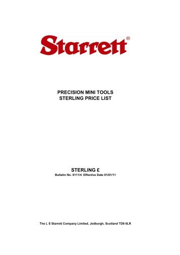 10 Free Magazines From Starrettcouk