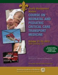 Course on - American Academy of Pediatrics National Conference ...