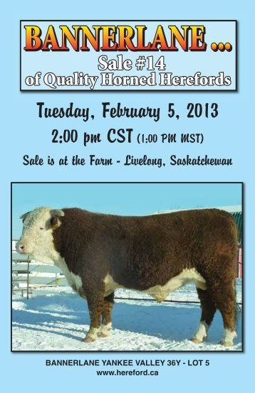 Tuesday, February 5, 2013 - Canadian Hereford Association