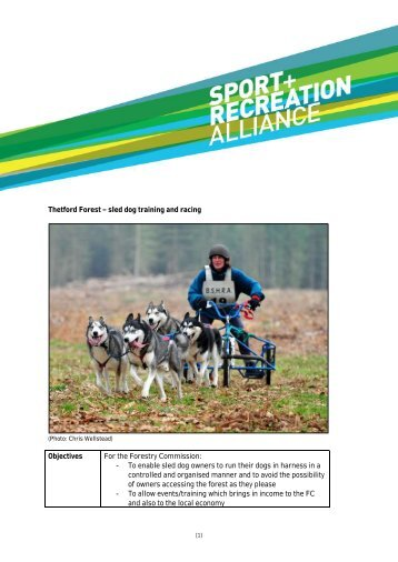 Thetford Forest sled dog training and racing Objectives For the ...