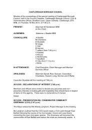 Special Council Minute 16 May 2013 - Castlereagh Borough Council