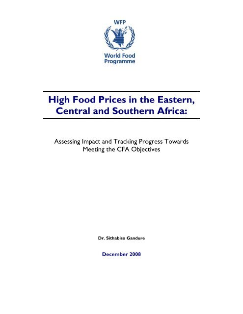 High Food Prices in the Eastern, Central and Southern Africa: