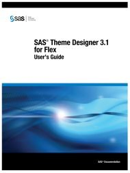 SAS® Theme Designer 3.1 for Flex