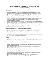 aacc-acct joint legislative agenda for the 111 congress