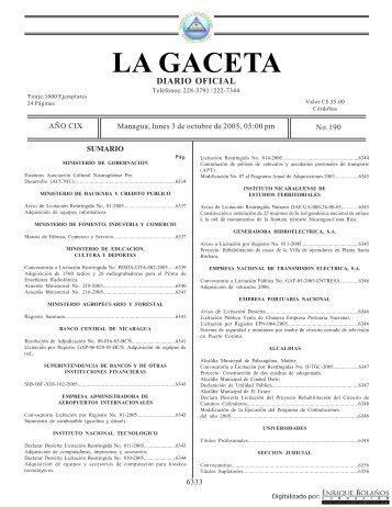 Gaceta - Biblioteca Enrique Bolaños