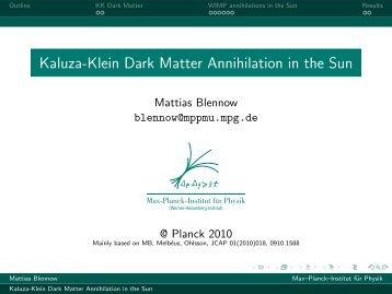 Kaluza-Klein Dark Matter Annihilation in the Sun