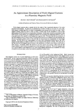 An Approximate Description of Field-Aligned Currents in a Planetary ...
