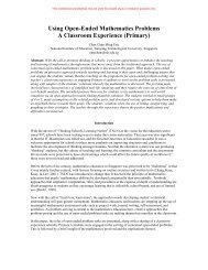 Using Open-Ended Mathematics Problems A Classroom Experience ...