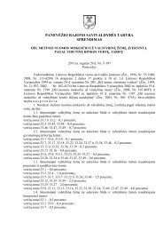 PANEVĖŽIO RAJONO SAVIVALDYBĖS TARYBA SPRENDIMAS