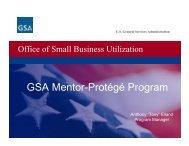 GSA Mentor-Protégé Program