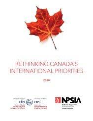 rethinking canada's international priorities - Carleton University