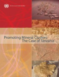 Promoting Mineral Clusters: The Case of Tanzania - Africa Mining ...