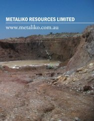 Metaliko Resources courts value from every step - The International ...