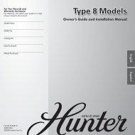 Type 8 Models - Hunter Fan Company
