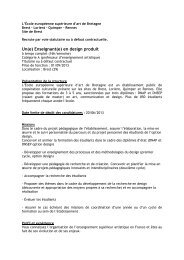 Un(e) Enseignant(e) en design produit - Les écoles d'art de Bretagne