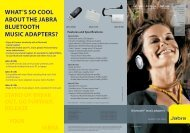 WHAT'S SO cOOL ABOUT THE JABRA BLUETOOTH mUSic ...