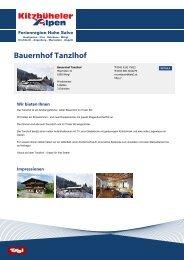Bauernhof Tanzlhof - Ferienregion Hohe Salve