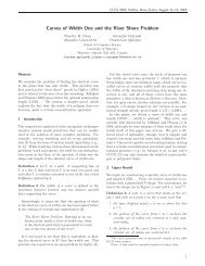 Curves of Width One and the River Shore Problem - Canadian ...