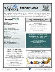 February 2013 - City of Yorkton