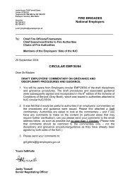 FIRE BRIGADES National Employers CIRCULAR EMP ... - Fbu.me.uk