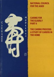 The Caring Process - National Council on Ageing and Older People