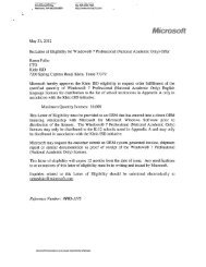 Letter of Eligibility for Windows® 7 Professional (National Academic ...
