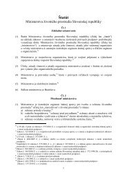 Štatút ministerstva životného prostredia SR (pdf, 273 kB)
