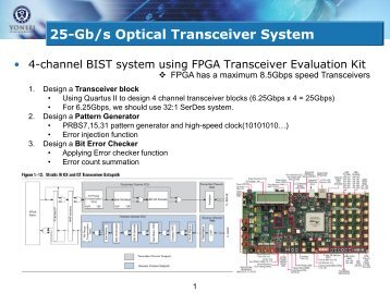 25-Gb/s Optical Transceiver System