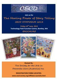 CECD Symposium Brochure 2013 - Society for the Arts in Dementia ...