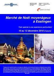 Marché de Noël moyenâgeux à Esslingen - SERVRail