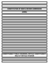 constitution of kenya review commission (ckrc) - ConstitutionNet