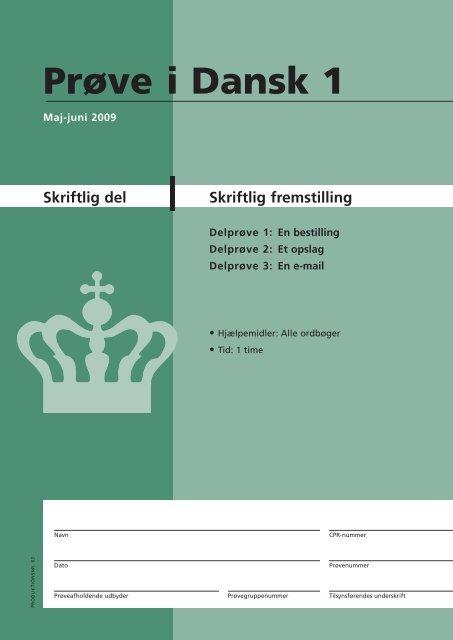 Skriftlig fremstilling - Ny i Danmark