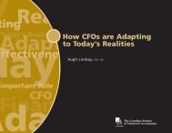 How CFOs are Adapting to Today's Realities - Canadian Institute of ...