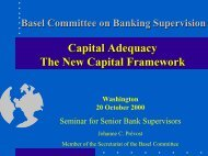 Capital Adequacy The New Capital Framework - World Bank