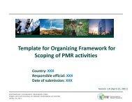 Draft Template for Organizing Framework - Partnership for Market ...